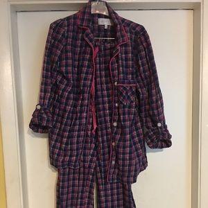 Vintage Victoria's Secret Flannel Plaid Pajamas